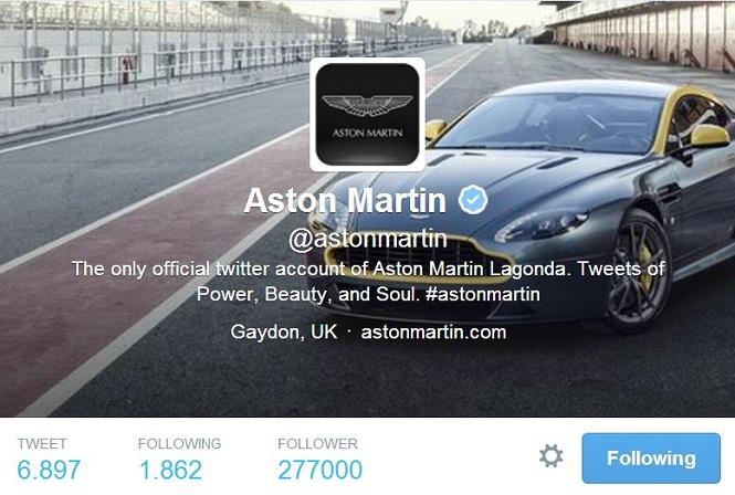 Aston Martin Bio Twitter
