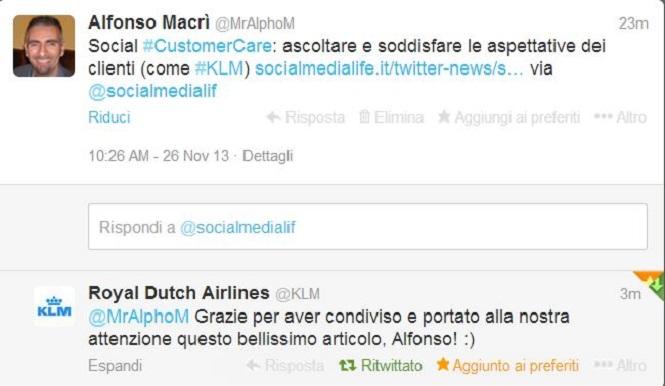 tweet klm - Alfonso Macrì